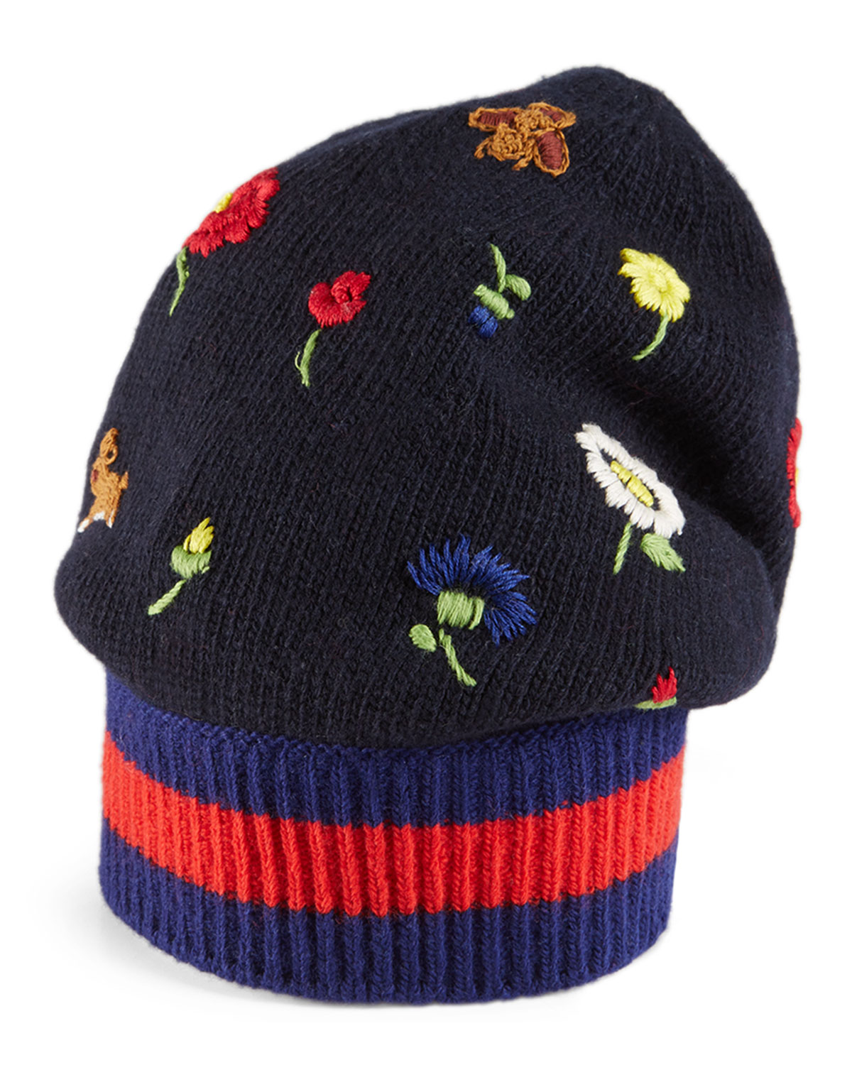 bee embroidered pom pom hat - Blue Gucci 9zOAnn