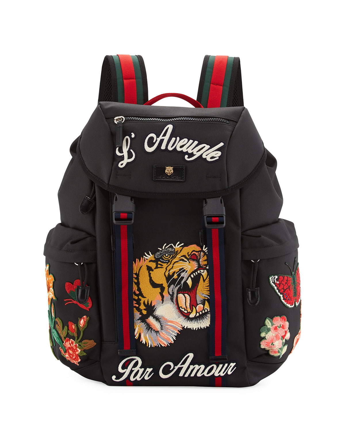 cca6056121b Gucci Men s Techpack with Embroidered Patches