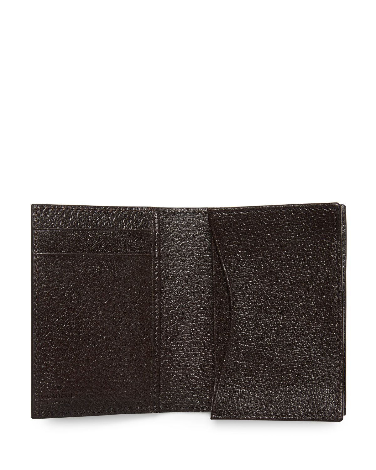 Gucci GG Marmont Leather Fold-Over Card Case | Neiman Marcus