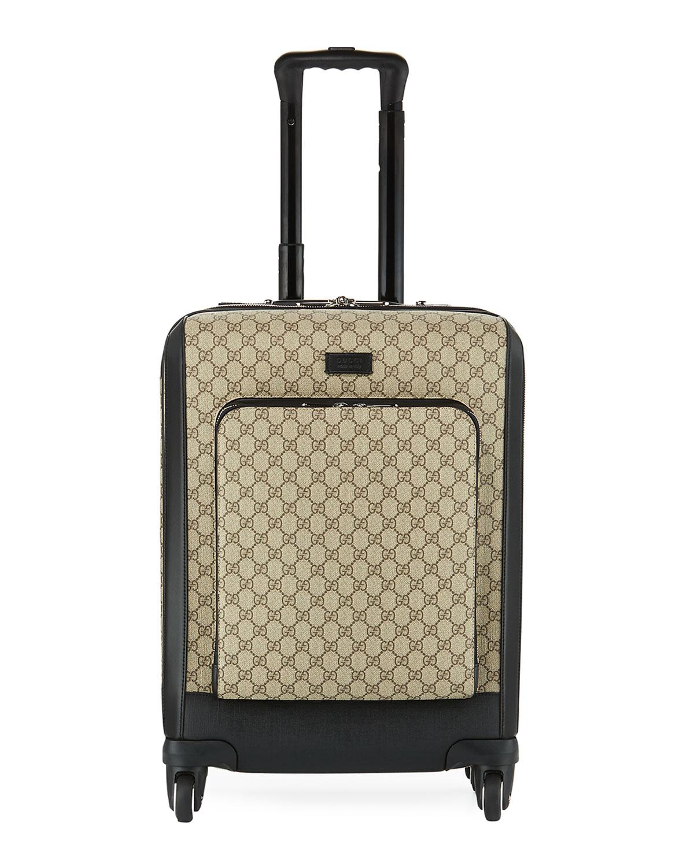 1e11d323ada9 Gucci Small GG Supreme Canvas Trolley Suitcase, Beige/Black | Neiman ...