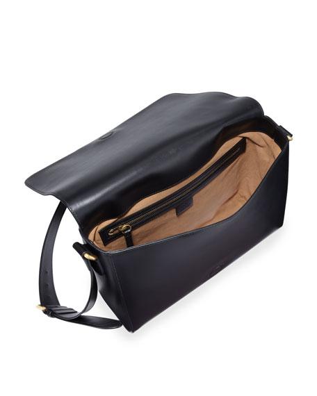 7a26188c765d Gucci Mens Leather Messenger Bag W/web Black | Stanford Center for ...