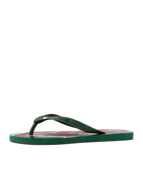 Gucci Bedlam GG Chevron Thong Sandal
