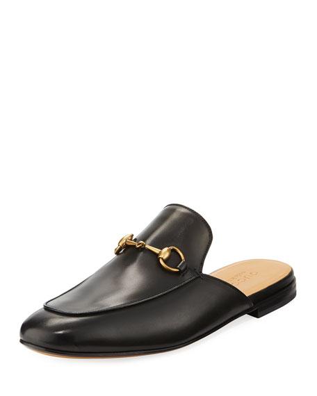 Gucci Kings Leather Horsebit Mule, Brown