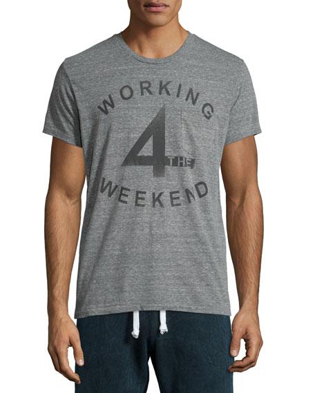 Sol Angeles Working Weekend Short-Sleeve T-Shirt, Gray