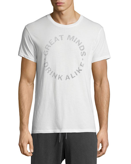 Sol Angeles Great Minds Drink Alike Graphic Short-Sleeve T-Shirt, White