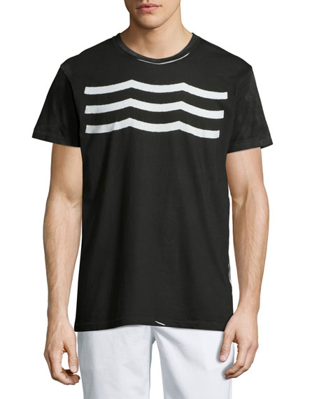 Sol Angeles Waves Short-Sleeve Graphic T-Shirt, Black
