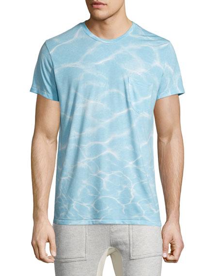 Sol Angeles Oasis Printed Short-Sleeve T-Shirt, Light Blue