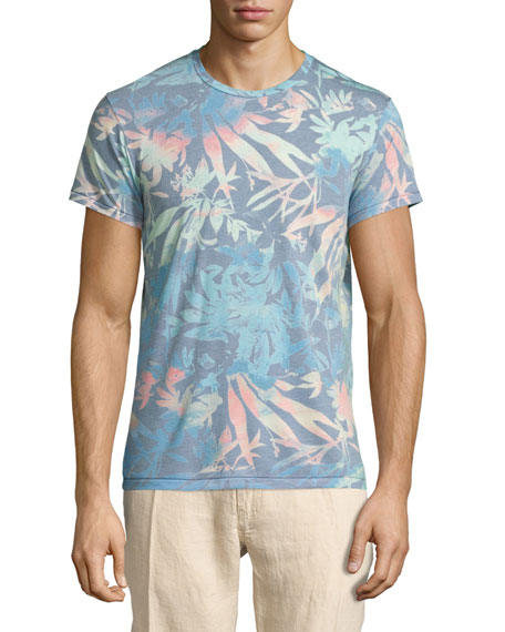 Sol Angeles Orchid Garden Short-Sleeve Graphic T-Shirt, Blue Pattern