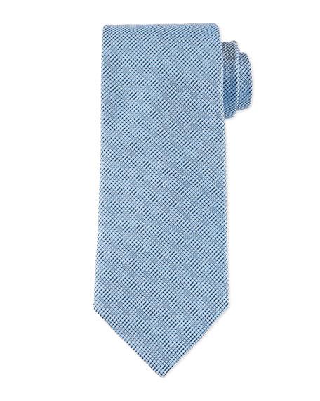 Boss Hugo Boss Textured Solid Silk Tie, Light