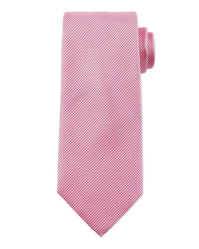 Textured Solid Silk Tie, Pink