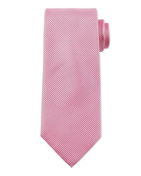 Boss Hugo Boss Textured Solid Silk Tie, Pink