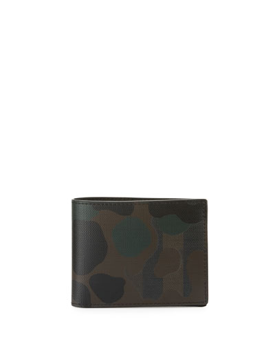 London Check Hipfold Wallet, Chocolate Camo