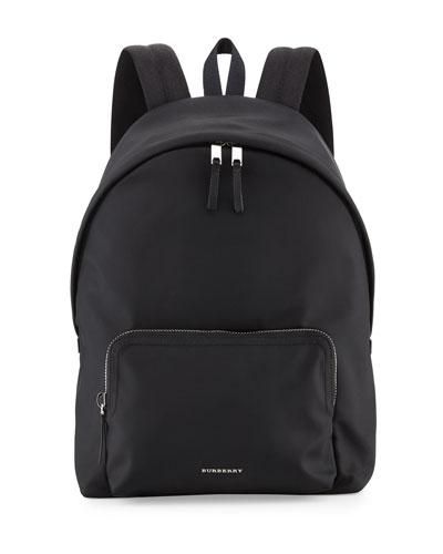 London Nylon Backpack, Black