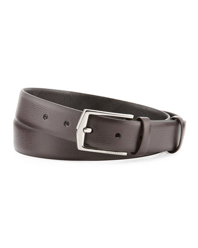 London Collection Leather Belt, Wine