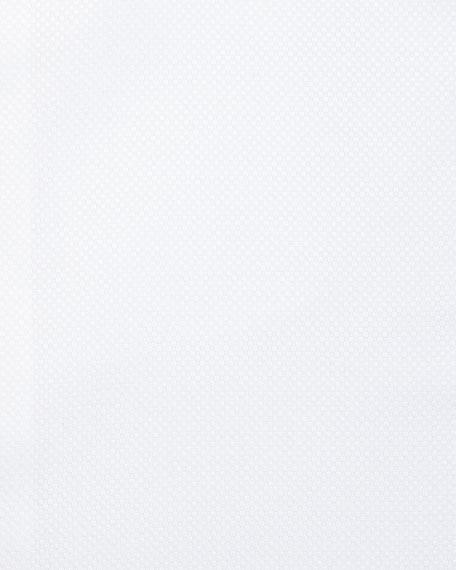 Ermenegildo Zegna White-On-White Textured Dress Shirt, White