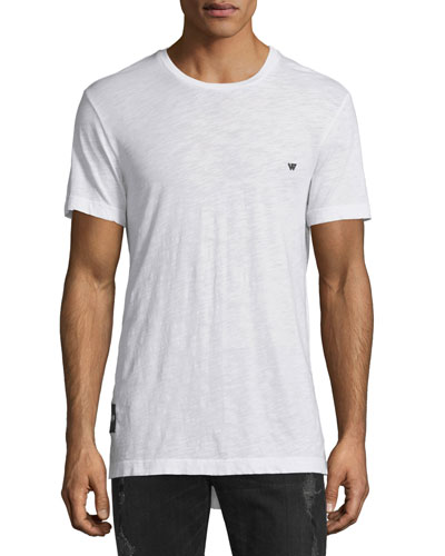 Russell Westbrook Collection Elongated Short-Sleeve Slub Tee, Optic White
