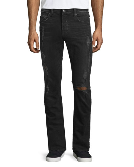 True Religion Russell Westbrook Collection Rocco Destroyed Denim Jeans, ...