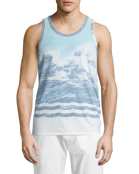 Sol Angeles Oceana Graphic Tank, Blue Pattern