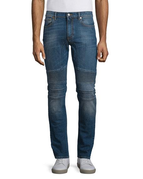 BelstaffEastham Slim-Fit Washed Denim Jeans, Mid Blue