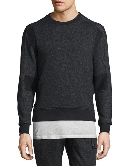 Hornby Mixed-Media Fleece Sweater, Black