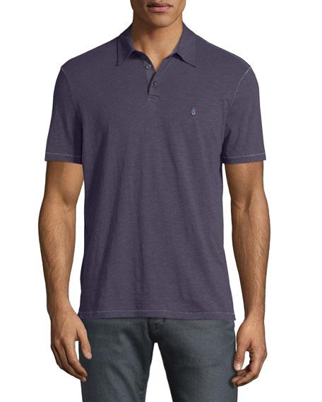 John Varvatos Star USA Short-Sleeve Peace-Sign Polo Shirt, Purple