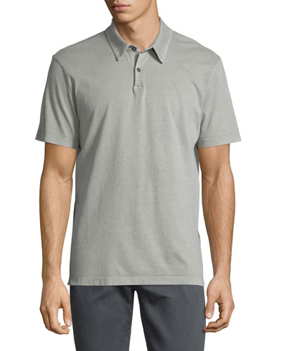 Short-Sleeve Jersey Polo Shirt, Taupe