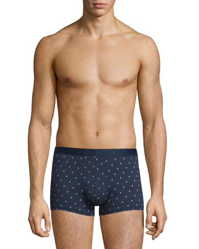 Sailboat-Print Hipster Boxer Briefs, Navy