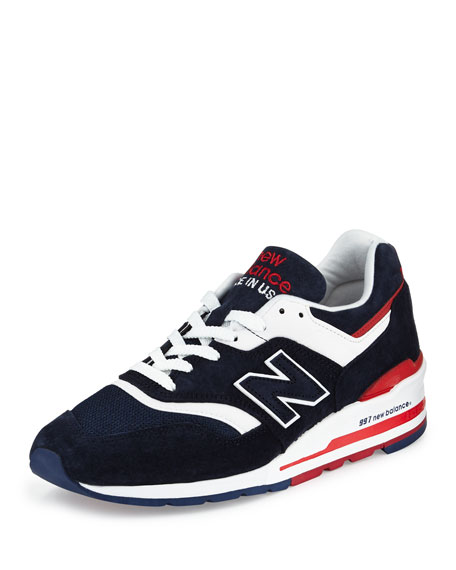 Men's 997 Explore By Air Colorblock Sneakers, Navy/Red