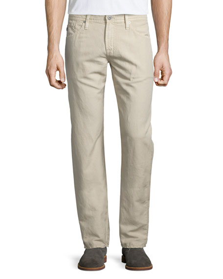 AG Adriano Goldschmied Graduate Sulfur Linen/Cotton Jeans, Desert