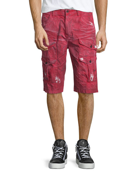 PRPS Dirty-Effect Cargo Shorts