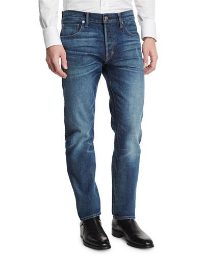 Regular-Fit Selvedge Denim Jeans, Indigo