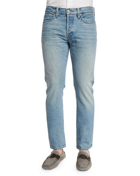 TOM FORD Straight-Fit Light Wash Denim Jeans, Light