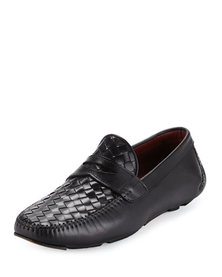 Magnanni for Neiman Marcus Woven Calf Leather Penny