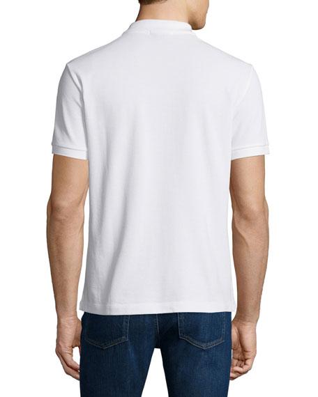 Short-Sleeve Oxford Polo Shirt, White