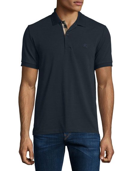 Burberry Brit Short-Sleeve Oxford Polo Shirt, Dark Navy