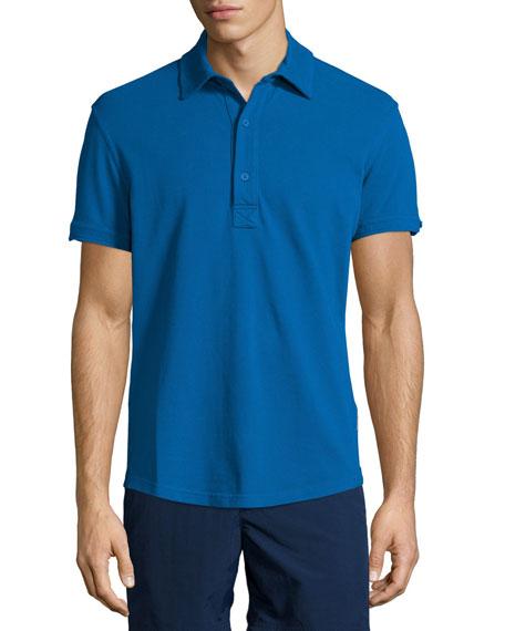Orlebar Brown Short-Sleeve Pique Polo Shirt, Navy