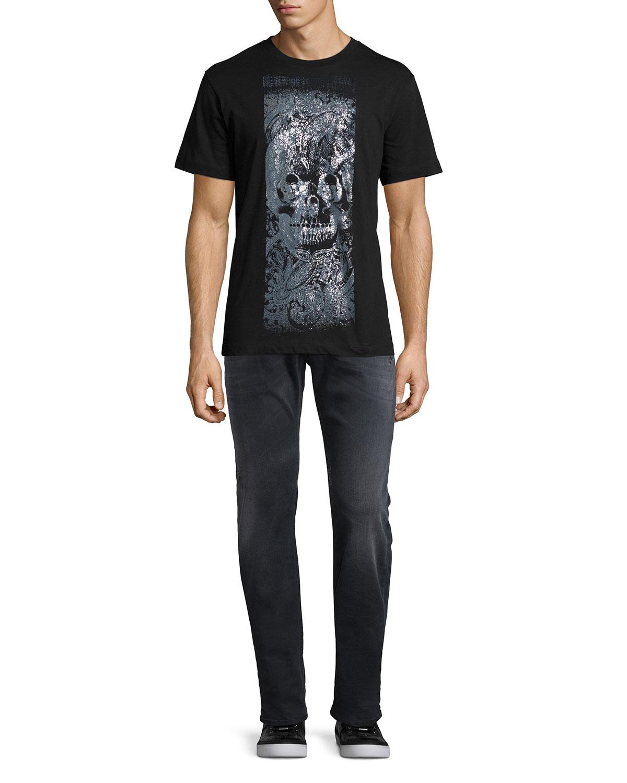 5d04fb23 Diesel Larkee 0854A Distressed Denim Jeans, Black | Neiman Marcus
