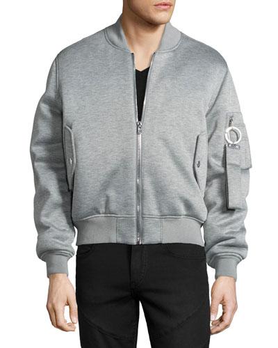 Jersey Bomber Jacket, Gray