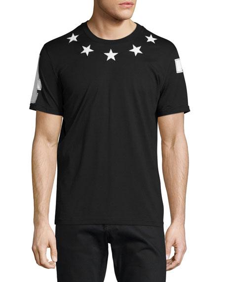Givenchy Cuban-Fit Star-Applique T-Shirt, Black
