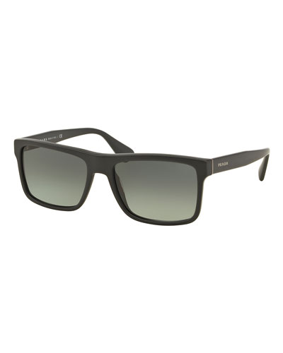 Rectangular Acetate Sunglasses, Gray