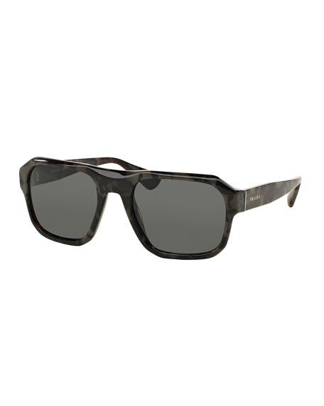 Prada Square Acetate Gradient Sunglasses, Gray