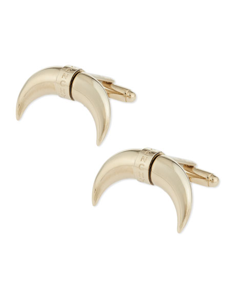 Horn Cuff Links, Pale Gold