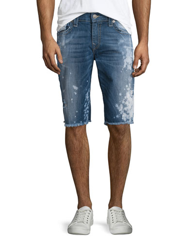 Ricky Distressed Cutoff Shorts, Indigo