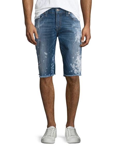 True Religion Ricky Distressed Cutoff Shorts, Indigo