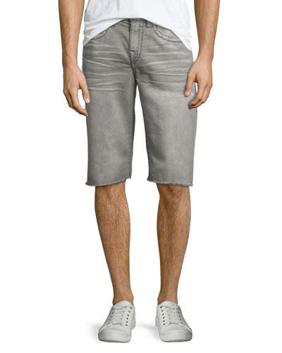Geno Overactive Slim Cutoff Denim Shorts, Cho Charcoal