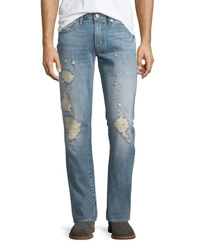 Tyler Destroyed Slim-Fit Denim Jeans, Destructed Kragg