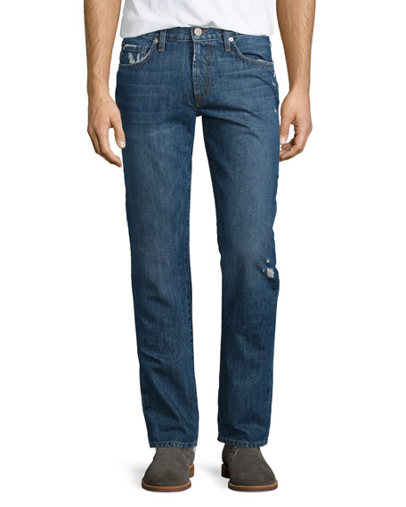 J Brand Tyler Destroyed Slim-Fit Denim Jeans, Destructed