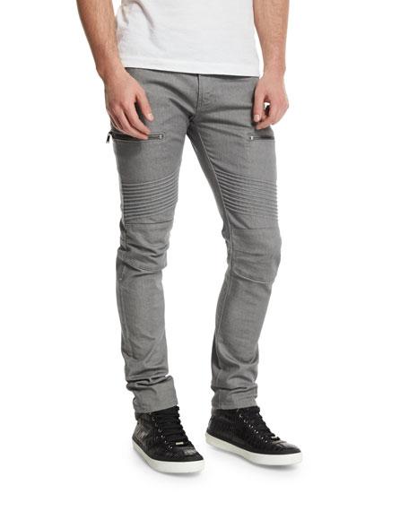 J Brand Acrux Skinny-Fit Moto Jeans, Rinse Coxa