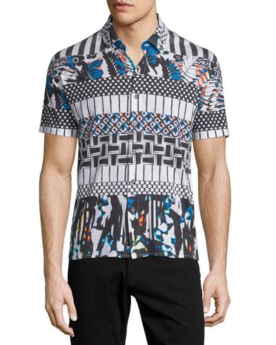 Lone Pine Multi-Print Short-Sleeve Shirt, Multicolor