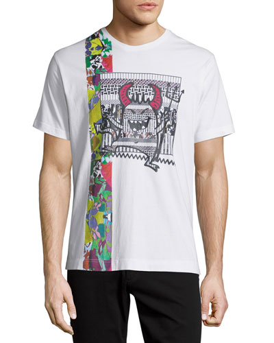 Pima Cotton Devils Graphic Short-Sleeve T-Shirt, White